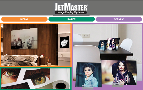 JetMaster Dye Sublimation Metal, Solid Substrate Transfer Paper and Adhesive Acrylic