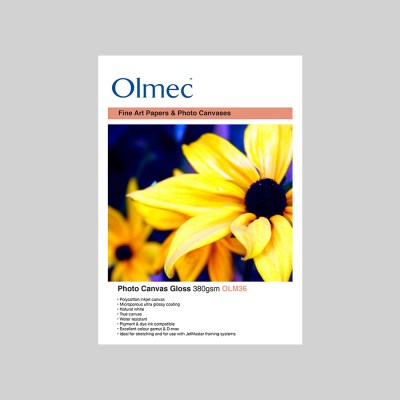 Olmec Photo Canvas Gloss 380gsm Inkjet Canvas