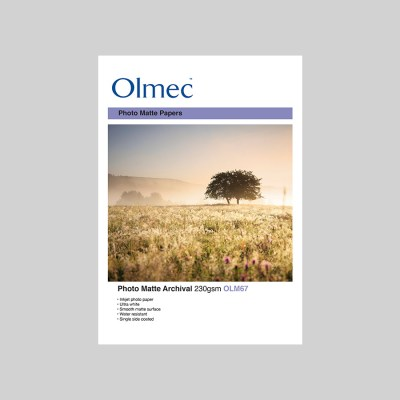 Olmec Photo Matte Archival 230gsm Resin Coated Inkjet Photo Paper