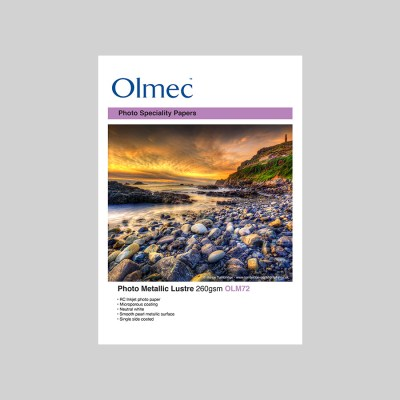 Olmec Photo Metallic Lustre 260gsm Resin Coated Inkjet Photo Paper