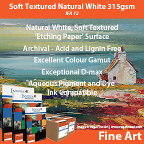 Innova Soft Textured Natural White 315gsm (IFA 12) | Inkjet Fine Art Paper