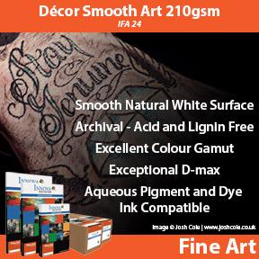 Innova Decor Smooth Art 210gsm (IFA 24) | Archival Inkjet Fine Art Paper