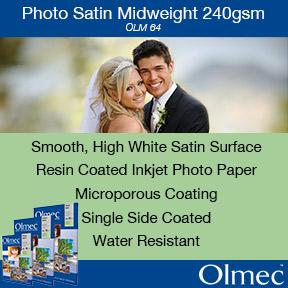Olmec Photo Satin Midweight 240gsm (OLM-64)   Inkjet Photo Paper