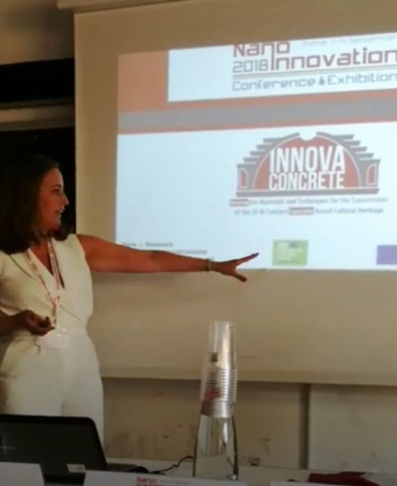 Maria Mosquera presents InnovaConcrete at NanoInnovation 2018