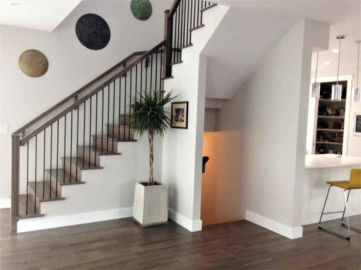 Hardwood Stairwell in New Home in the Community of Westgate