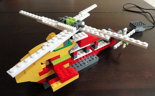 helicopter lego wedo