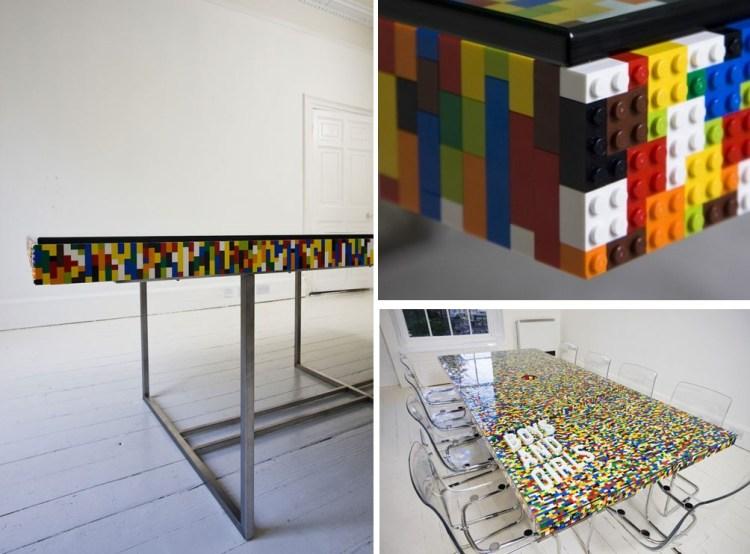 Mesa de legos (vía arquitecturaideal.com)