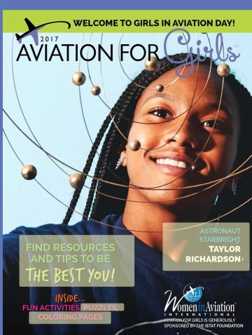 Taylor on the cover of Aviation for Girls