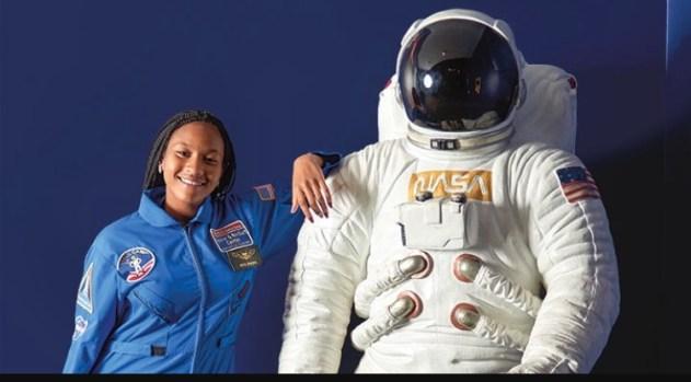 Taylor Richardson & space suit