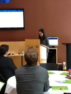 Tamarah Luk, LL.B from Bereskin & Parr LLP, presenting on Canada's new anit-spam legislation