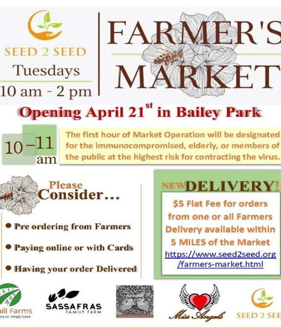 Bailey Park farmers market