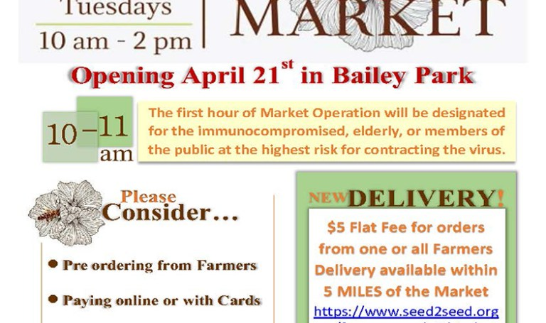Bailey Park farmers market