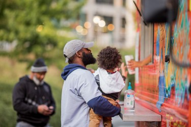 Food truck in Bailey Park