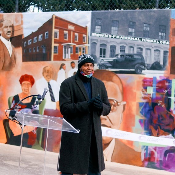The Depot Street Mural in the Innovation Quarter is one way iQ promotes diversity and inclusion.
