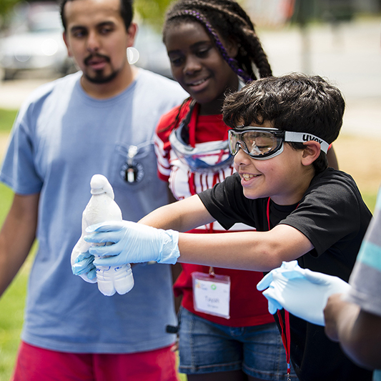 Scitech events provides minority school children with STEM opportunities.