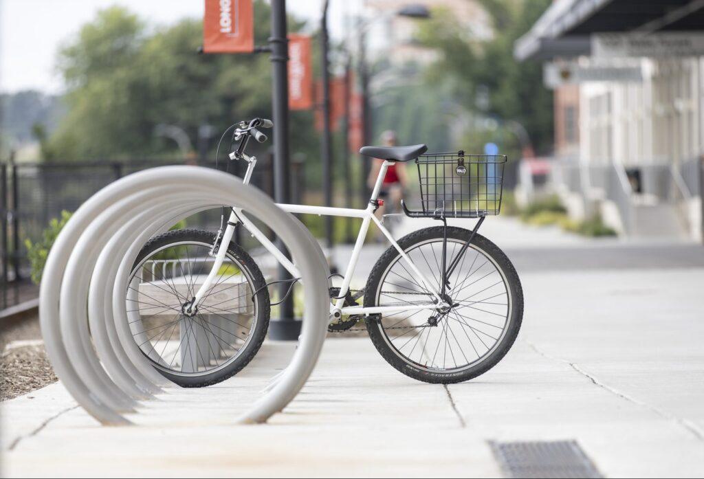 Bikes on Long Branch Trail.