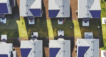 drone image of housing site