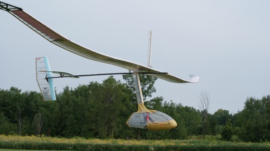 """Snowbird"" claims record for sustained flight of a human-powered ornithopter"