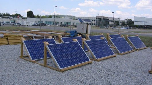 Using solar power to keep runways ice-free