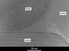 An amorphous phase trapped at a triple junctio...
