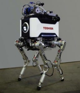 Toshiba unveils four-legged nuclear plant inspection robot