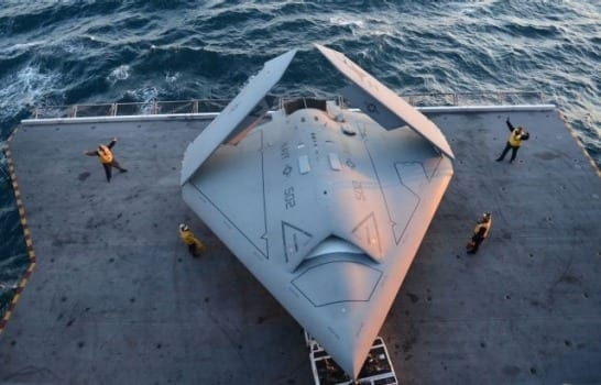 Northrop Grumman, U.S. Navy Catapult X-47B from Carrier, marking the first catapult launch of an unmanned aircraft from a ship