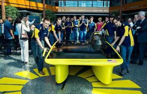 New solar car from U-Michigan has sleek, asymmetrical design