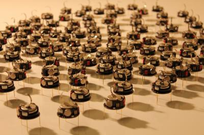 This shows the puck robots used in the research. Credit: University of Sheffield, UK