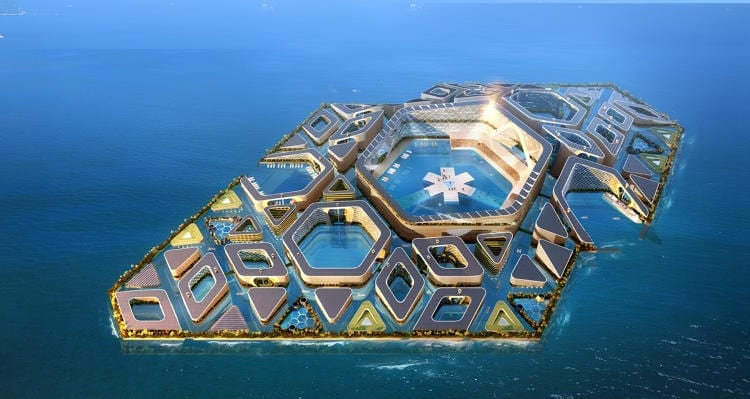 This self-sustaining, floating city could be the next big wave of urban growth in China.