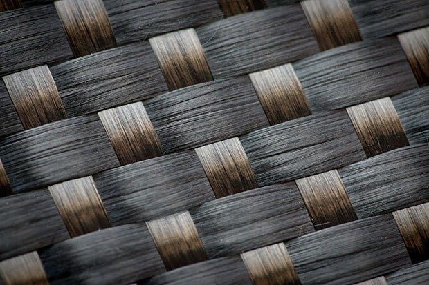 Woven carbon fibre can act as an electrode for lithium ion batteries. (Photo: Peter Larsson)
