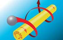 Ultrasonically propelled nanorods spin at 150,000 rpm!
