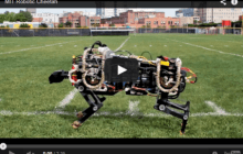 Robotic Cheetah able to run and jump by itself over uneven ground