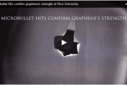 Microbullet hits confirm graphene's strength