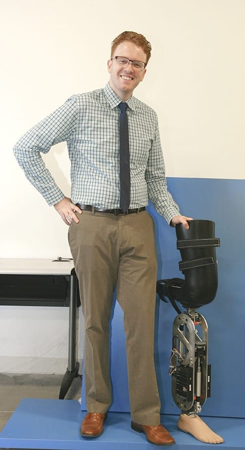 Engineer Applies Robot Control Theory to Improve Prosthetic Legs