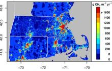 Boston's natural gas infrastructure releases high levels of heat-trapping methane