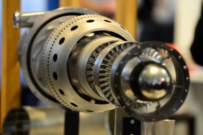 PHOTO: The 3D jet engine created by Australian researchers is a world first. (ABC: Jake Sturmer)