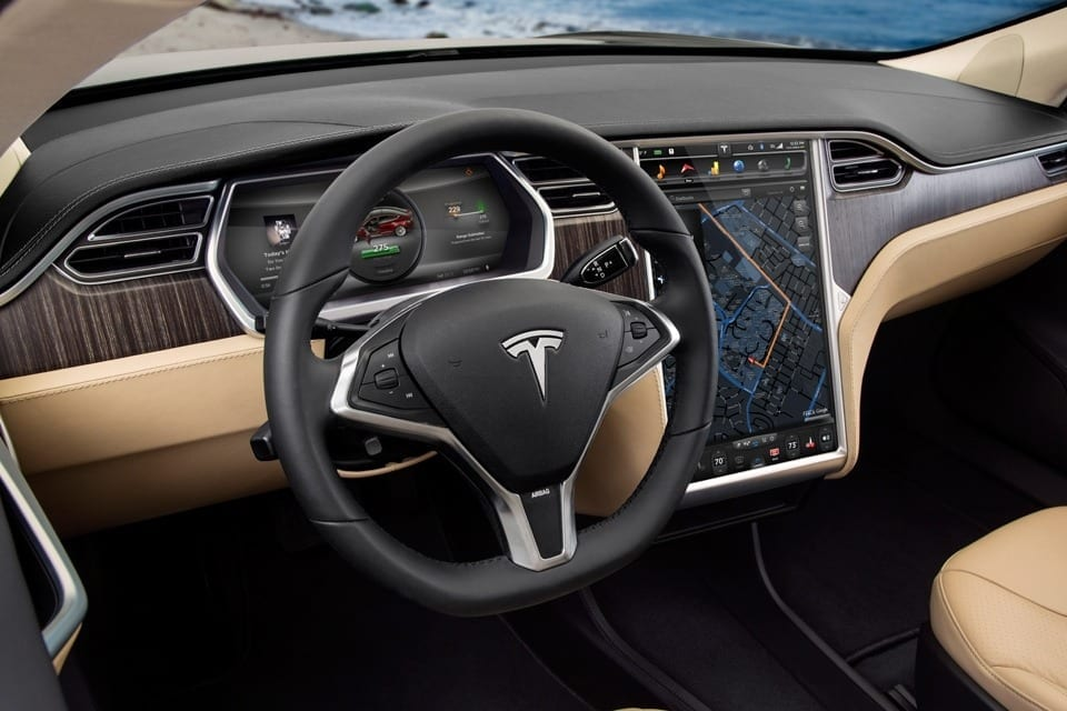 Tesla comes equipped with two Tegra processors to power its screens