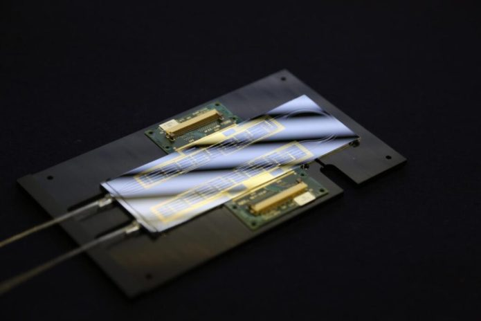 This is the silicon based quantum optics lab-on-a-chip. CREDIT University of Bristol