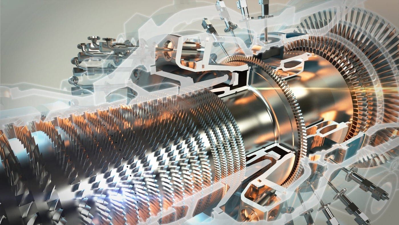 Greening the electric grid with gas turbines