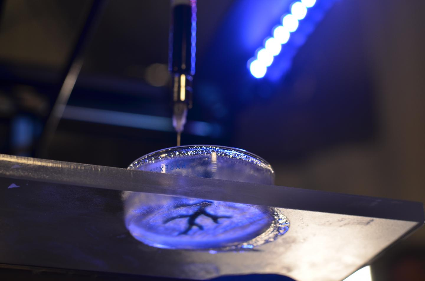 Researchers hack off-the-shelf 3-D printer for 3-D bioprinting