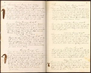 A January 1870 page from the log of the Trident, a whaling vessel that sailed out of New Bedford, Massachusetts. Volunteers transcribe the handwritten text for climate clues.New Bedford Whaling Museum