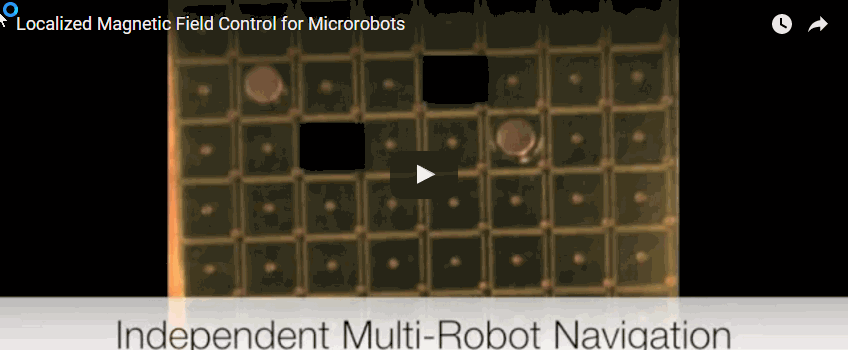 Microbots controlled using mini force fields
