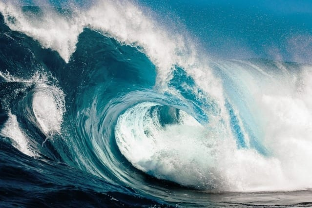 """These waves really talk to each other,"" Themis Sapsis says. ""They interact and exchange energy. It's not just bad luck. It's the dynamics that create this phenomenon."" Image: MIT News"