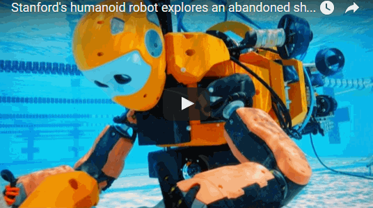 OceanOne, a humanoid robotic diver from Stanford, allows new underwater exploration capabilities