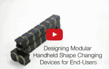 Shape-shifting modular interactive device can change shape on demand