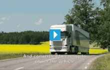 Tests show how trucks can reuse engine heat for power saving fuel and CO2 emissions