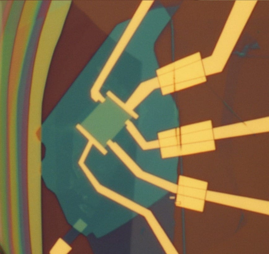 Image of one of the graphene-based devices Xu and colleagues worked with.Lei Wang