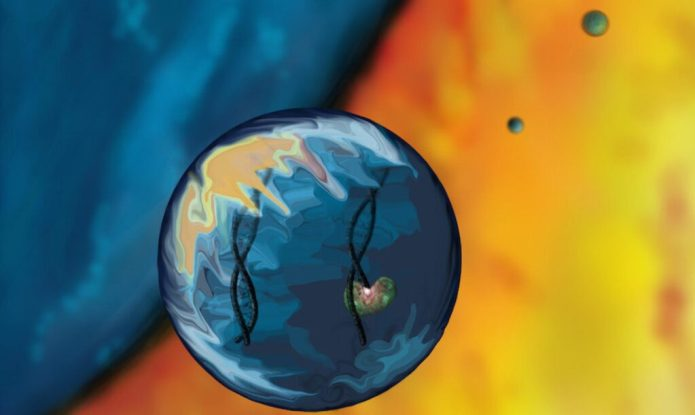 Visualization of RNA in water droplets. Jared Ellefson