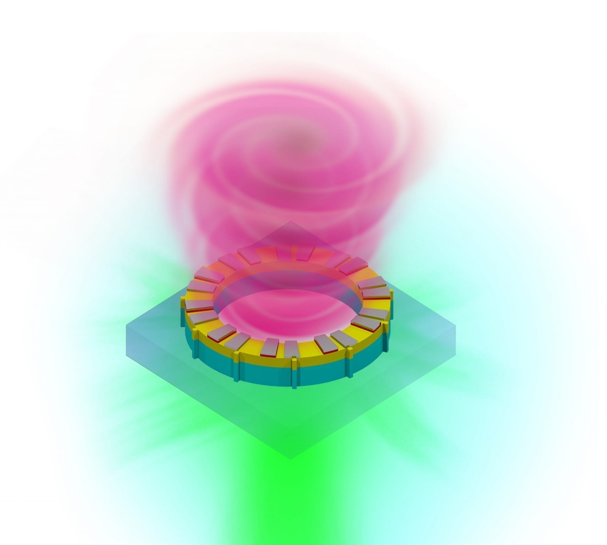 Vortex laser could boost computing power and information transfer rates tenfold