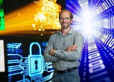 Wolfgang Tittel, professor of physics and astronomy at the University of Calgary, and a group of PhD students have developed a new quantum key distribution (QKD) system.